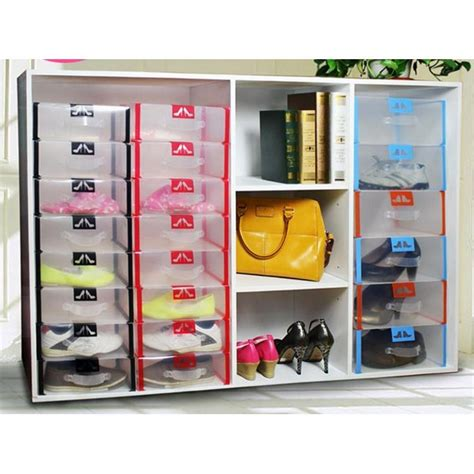 Kotak Sepatu Transparan Shoes Box my shoe box transparant shoe box with holder kotak