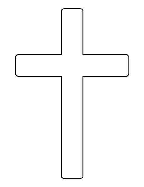 Cross Outline by Cross Pattern Use The Printable Outline For Crafts Creating Stencils Scrapbooking And More