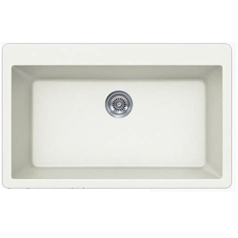 White Quartz Composite Single Bowl Undermount Drop In