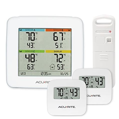 acurite backyard weather thermometer acurite 02027a1 color weather station with forecast