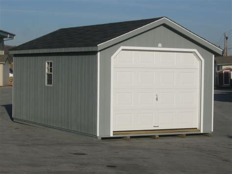 amish built   frame garage storage shed duratemp
