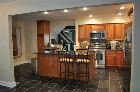 Flooring for Small Kitchens with Wood and Tile