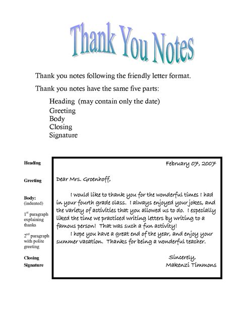 Thank You Letter Learner Thank You Notes Templates Activity Shelter