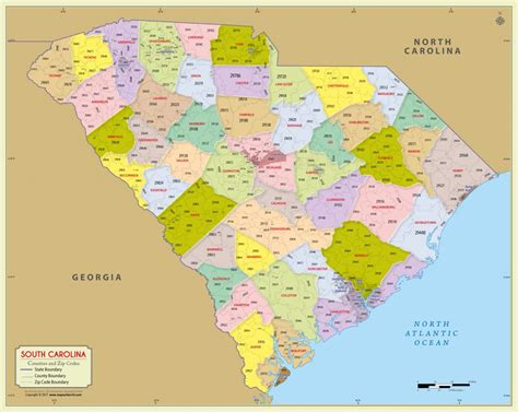 printable map of usc cus buy south carolina zip code map with counties