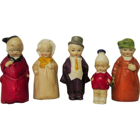 bisque doll figurines family of german bisque doll house figurines hertwig