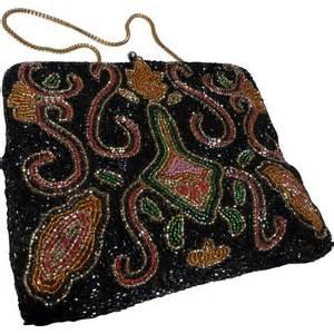 multi color purse vintage multi color beaded purse handbag clutch from