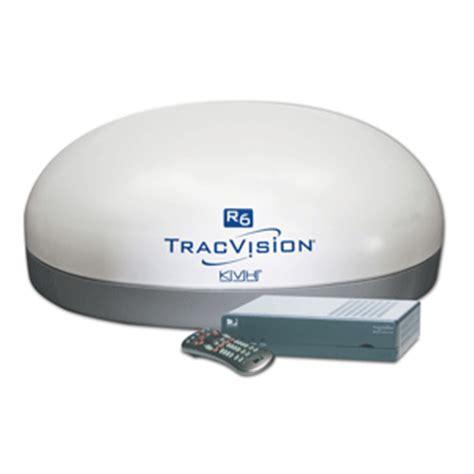 kvh tracvision r6st rv satellite antenna system w directv mobile box white ebay