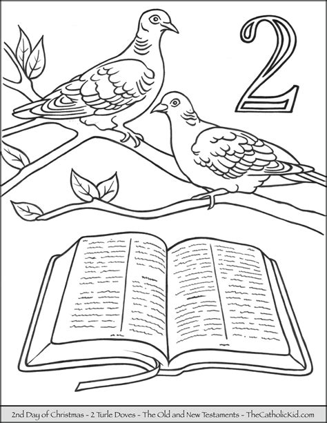 12 Days Of Coloring Pages
