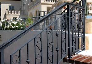 Exterior Stair Railing Systems by High Quality Wrought Iron Stair Railings Exterior 2