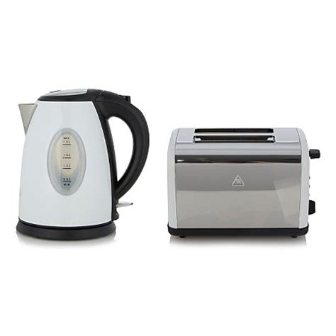 Range Toasters George Home Fast Boil Kettle Toaster Range White