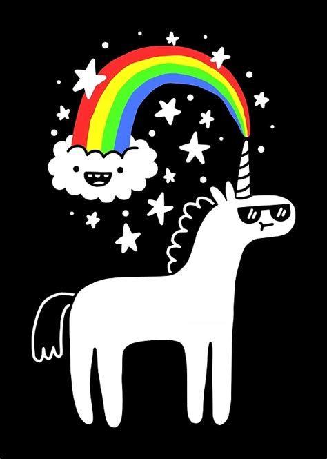 quot cool unicorn quot posters by obinsun redbubble