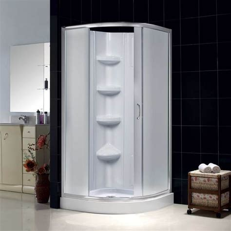 32x32 Shower Stall by Dreamline Sparkle Frosted Glass Enclosure 32x32 Inch Base