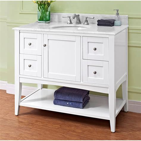 Bathroom Vanity Open Shelf Fairmont Designs Shaker Americana 42 Quot Vanity Open Shelf Polar White Free Shipping Modern