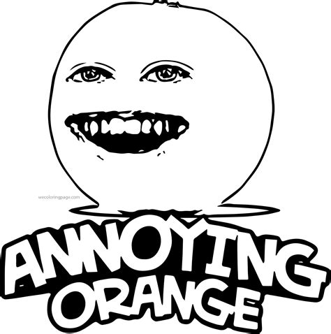 annoying orange coloring pages by elvin mulierchile