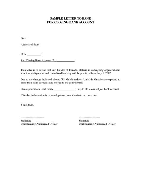 Closing Bank Account Template Letter Uk Account Closure Letter