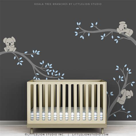 Nursery Wall Stickers For Boys blue baby boy wall decal baby nursery tree wall sticker decor