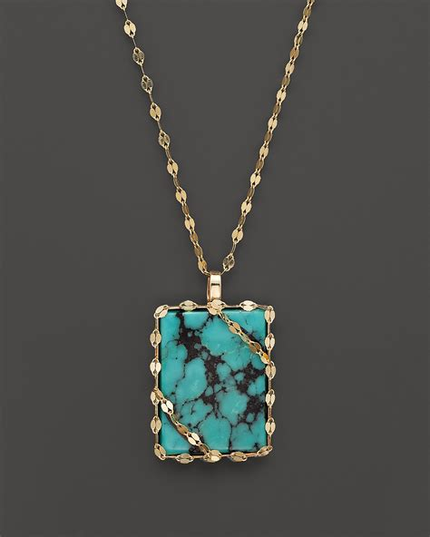 jewelry 14k gold turquoise pendant necklace 18