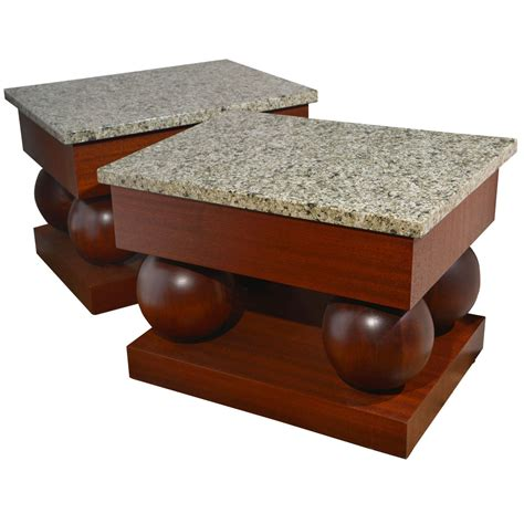 2012 granite table tops for sale id 6885018 product stylish pair modernist mid century modern mahogany and