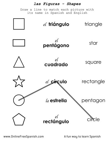 printable shapes in spanish education entertaiment www onlinefreespanish com