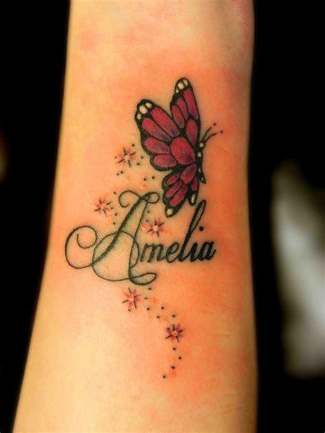 sterne flackeriger schmetterling handgelenk tattoo wit