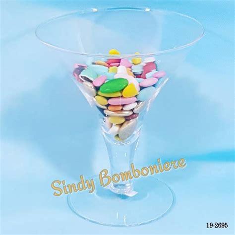 bicchieri calice bicchiere calice porta confetti in vetro confettata per eventi