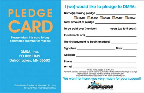 pledge card templates pin pledge card template index of on