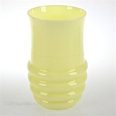 yellow glass vase antiques atlas riihimaki yellow glass vase