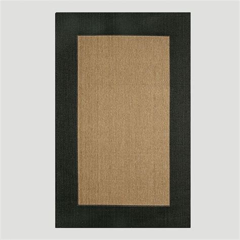 Black Outdoor Rug Black Border Indoor Outdoor Rug World Market