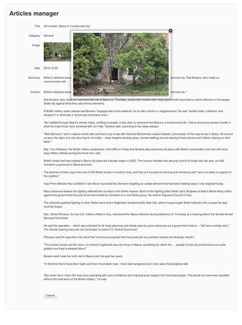 Kohana Template by Kohana Crud Data Management System By Vudoanthang
