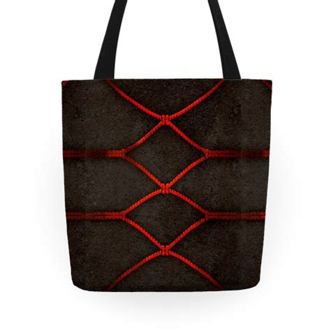 Hienami Rope Anime Tote Bag kinbaku shibari tote bags grocery bags and canvas bags