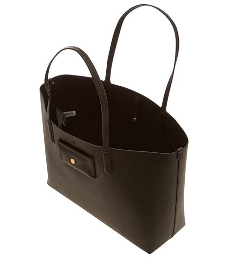 Marc Two Pocket Handbag by Lyst Marc By Marc Black Leather Metropolitote 48