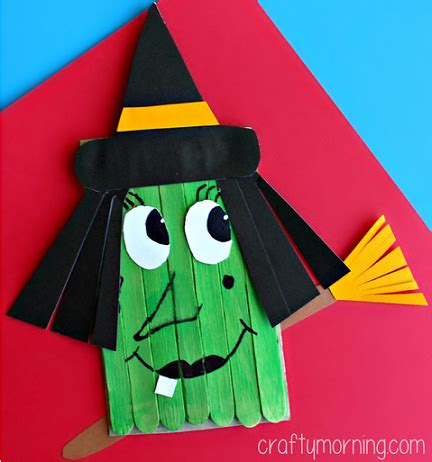 pagan craft projects make a witch craft using popsicle sticks crafty