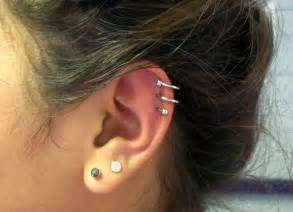 ear cartilage spiral piercing
