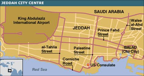 printable jeddah road map bbc news middle east gunmen storm us mission in saudi