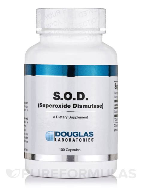 S O D s o d superoxide dismutase 100 capsules