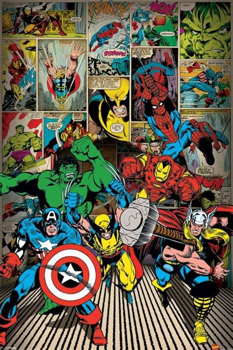 Spiderman Bedroom Decorations Marvel Posters Marvel Here Come The Heroes Poster