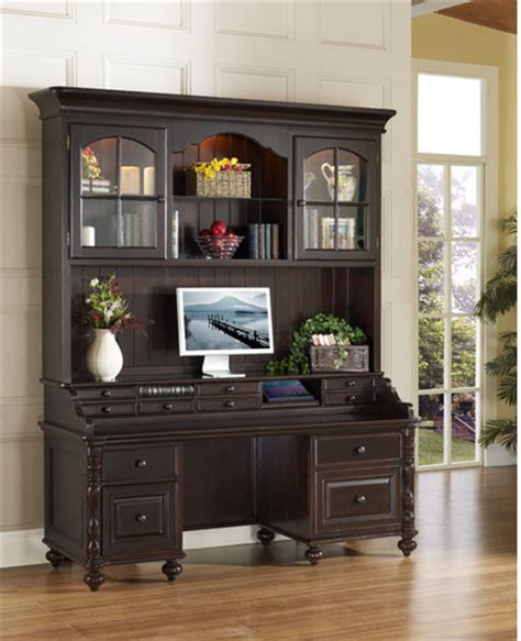 home office desks with hutch barton park credenza desk with hutch modern home