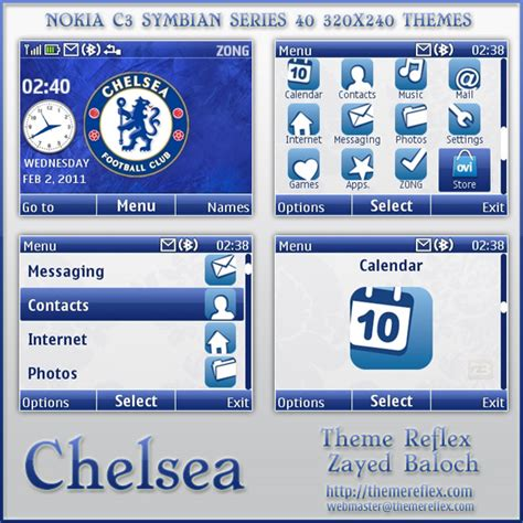 nokia c3 london themes chelsea analog clock theme for nokia c3 x2 01 themereflex