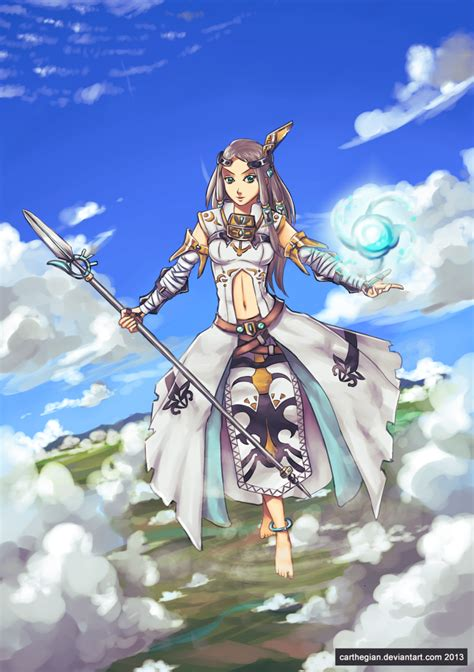 goddess of light ignata by carthegian on deviantart