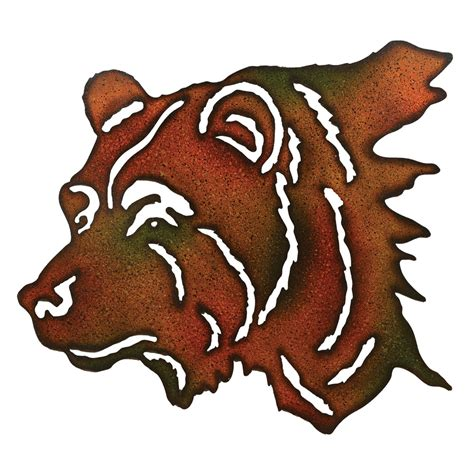 bear wilderness metal wall art