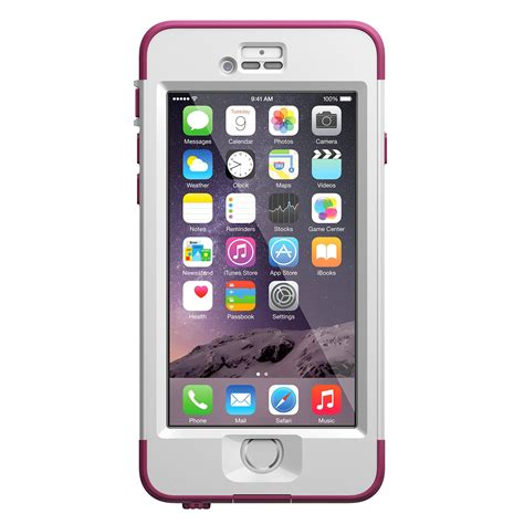 lifeproof iphone 6 nuud series pink pursuit white pink cell phones