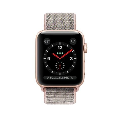 Apple Series 3 38mm Gold Aluminium Pink Sport apple gold aluminum pink sand sport loop series 3 in
