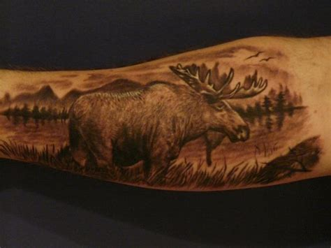 moose tattoos designs ideas and meaning tattoos for you