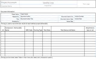 project deliverables template excel quality templates project management templates