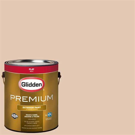 glidden premium 1 gal hdgo36 tea and honey flat exterior paint hdgo36px 01f the home depot