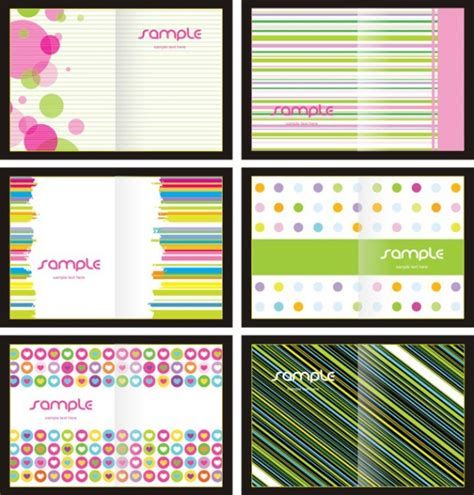 lovely background patterns book covers vector graphics