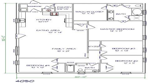 texas barndominium floor plans 40x50 metal building house