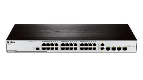 Switch D Link 3200 Des 28 24 port fast ethernet managed l2 switch with 2 gigabit sfp ports and 2 gigabit combo base t sfp