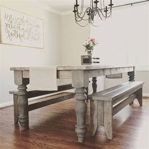 diy woodworking project chunky farmhouse table