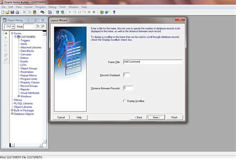 layout editor in oracle forms part 3 tutorial create wizard layout oracle forms 11g